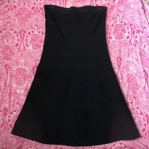 Bebe strapless zip up back LBD.